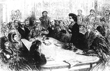 Sketch of Victoria Speaking to Congress (23866 bytes)